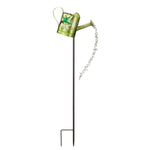 Hummingbird Watering Can Solar Garden Stake