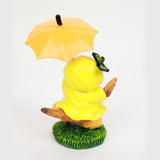 Raincoat Bird Figurines