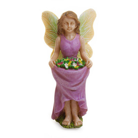 Fairy Gardening with Skirt Full of Flowers