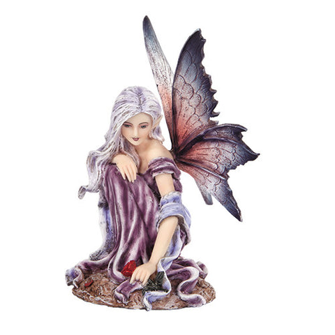 Purple Butterfly Winged Fairy Figurine