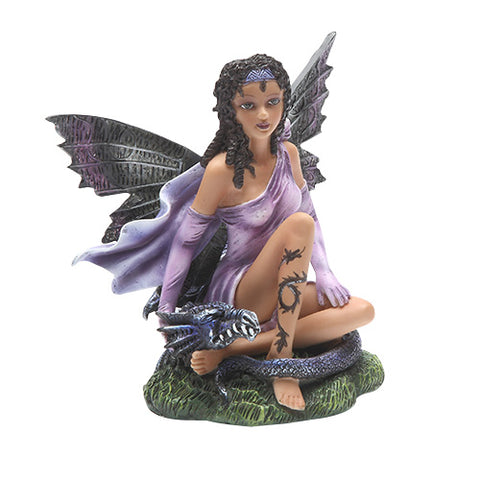 Purple Fairy with Black Dragon