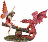Seesaw Fire Fairy & Dragon Figurine