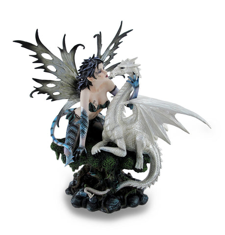 Reptile Tailed Fairy with Snow Dragon