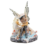 Snowy Fairy with Unicorn Figurine