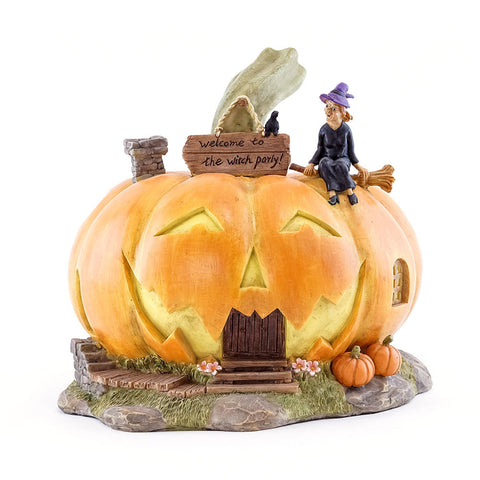 Witch Party Halloween Jack o' Lantern House