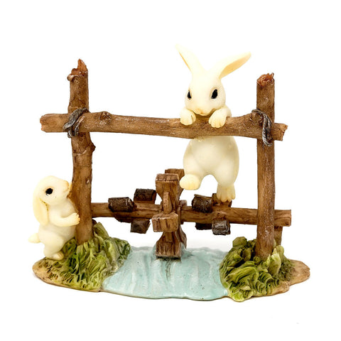 Bunnies on Water Wheel