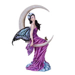 Amethyst Crescent Moon Fairy Figurine
