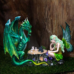 Fairy and Dragon Playing Chess