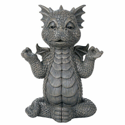 Meditating Yoga Garden Dragon