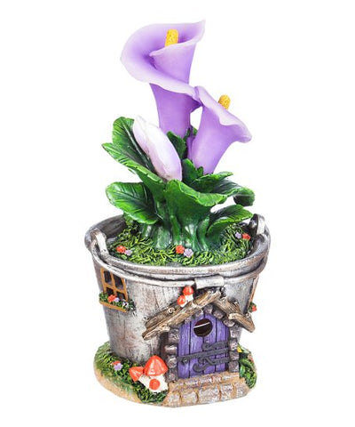 Light-Up Calla Lily Bloom Fairy House