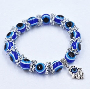 Handmade Hamsa Fatima bangle Evil Eye Beads