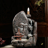 BUDDHA HEAD BACK FLOW INCENSE BURNER