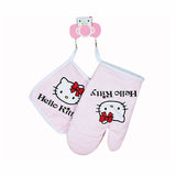 1 PAIR OF HELLO KITTY OVEN MITTS