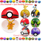 7CM Pokeball plus one random pokemon inside