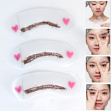 3 Reusable Eyebrow stencils