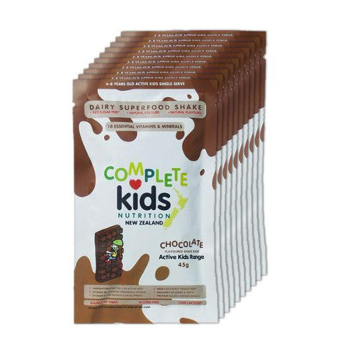 Active Kids - On the go 'Chocolate' pack - 10x 45g single serve sachets