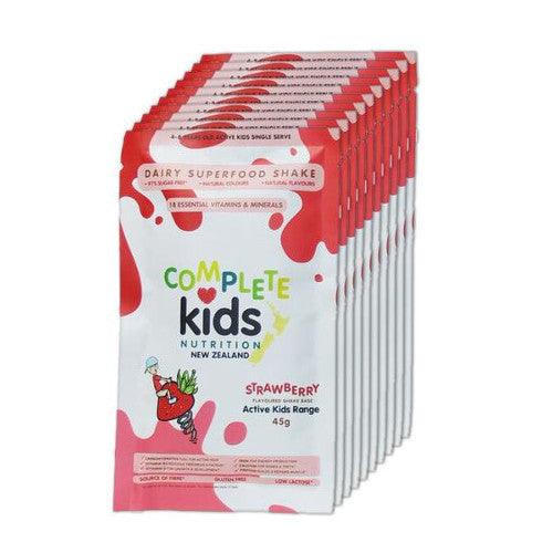 Active Kids - On the go 'Strawberry' pack - 10x 45g single serve sachets