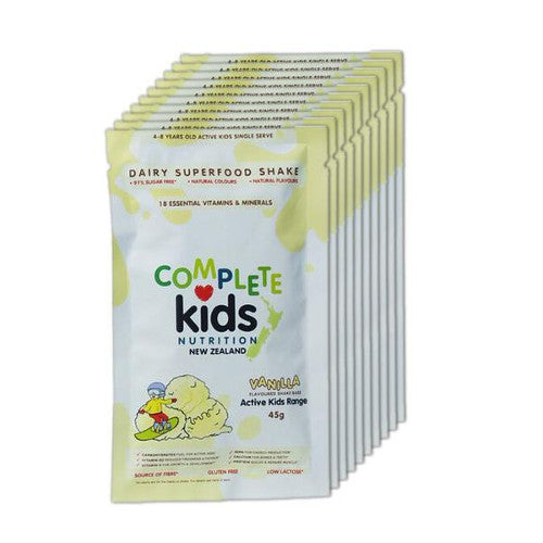 Active Kids - On the go 'Vanilla' pack - 10x 45g single serve sachets