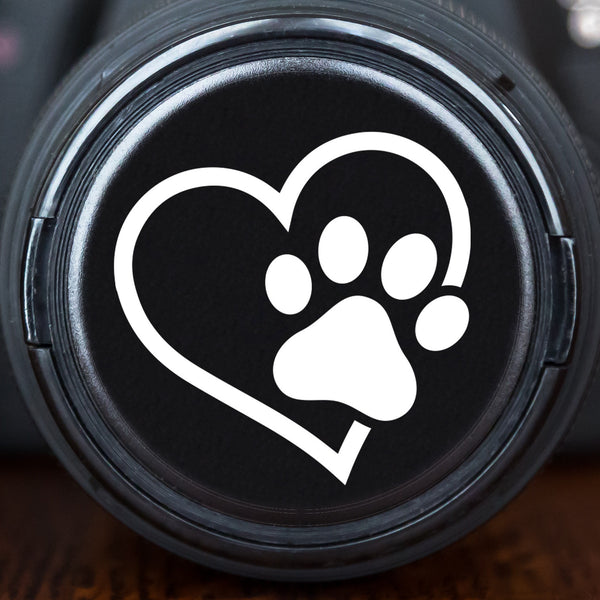 Cat Paw Print in Heart