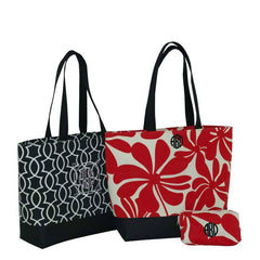 Everyday Tote Black and  Red