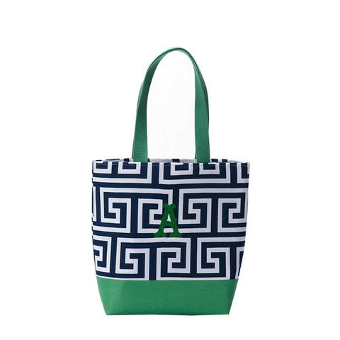 Mini everyday Tote black and Green