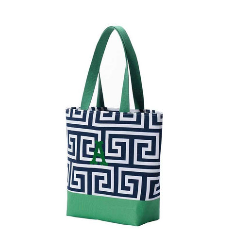Mini everyday Tote black and Green sides
