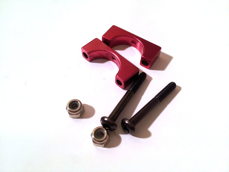 V1 Mini Mamba 270 CNC arm/body clamp - RED - D12mm - 1 clamp