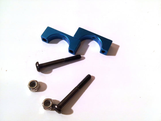 V1 Mini Mamba 270 CNC arm/body clamp - BLUE - D12mm - 1 clamp