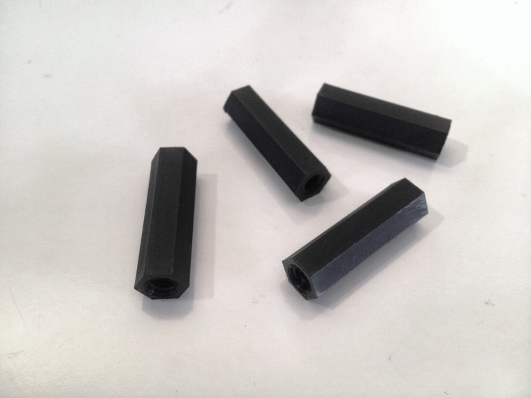 M4 x 25mm Nylon Tapped Standoffs (4 pcs)