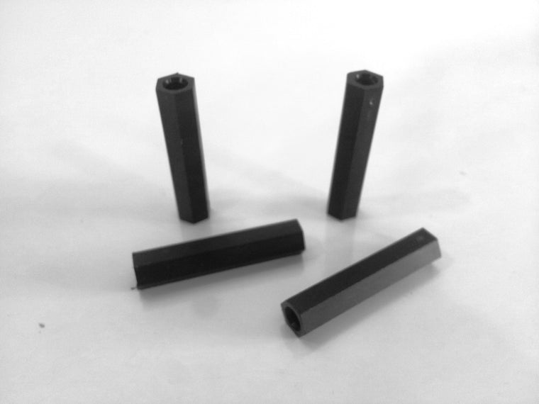 M4 x 35mm Nylon Tapped Standoffs (4 pcs)
