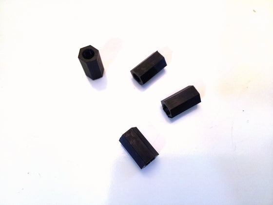 M3 x 10mm Nylon Tapped Standoffs (4 pcs)