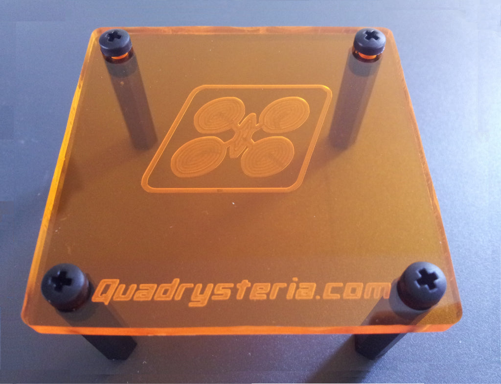 Quadrysteria 45mm FC Protective Plate - Amber Orange