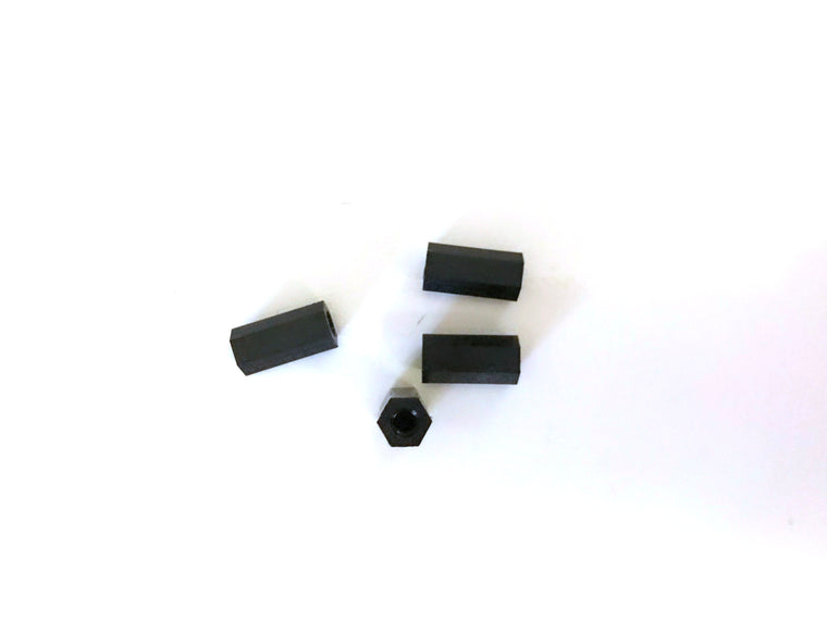 M3 x 12mm Nylon Tapped Standoffs (4 pcs)