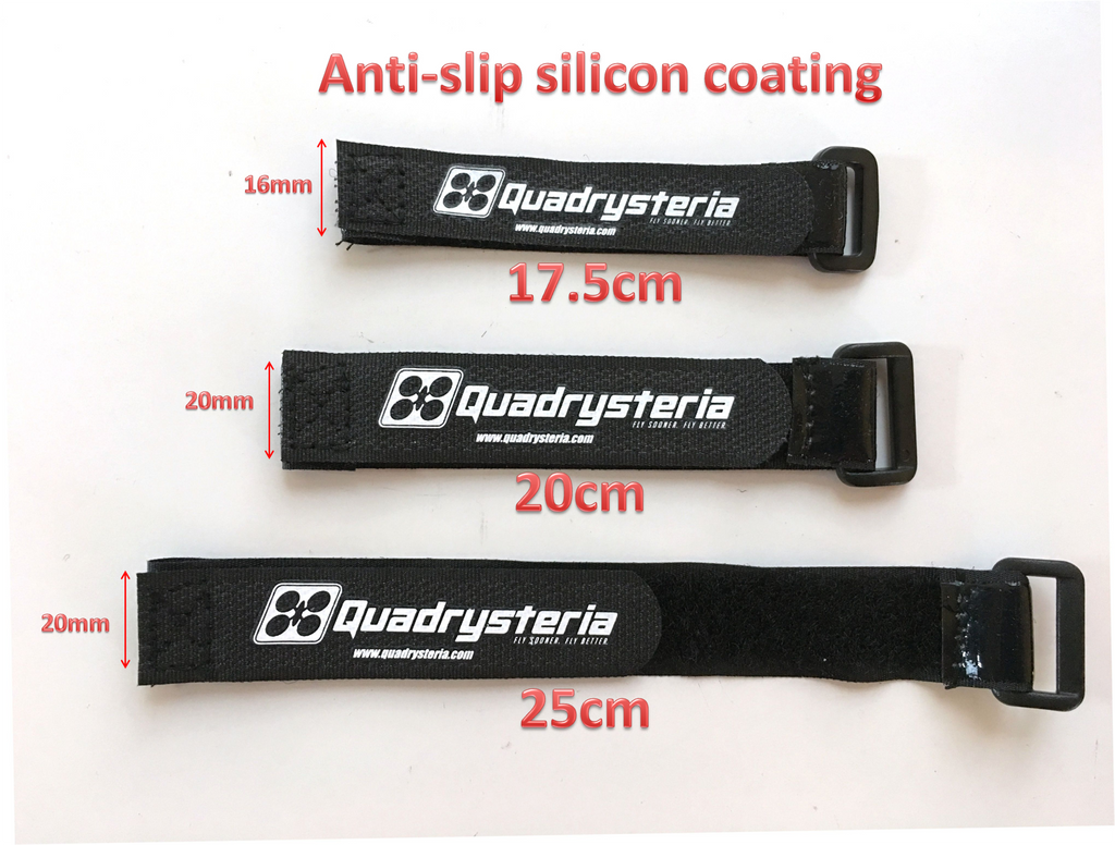 20cm Quadrysteria Rubberized Battery Strap