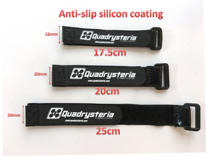 17.5cm Quadrysteria Rubberized Battery Strap