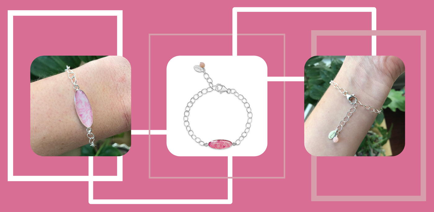 new breast cancer jewelry pink identity bracelet