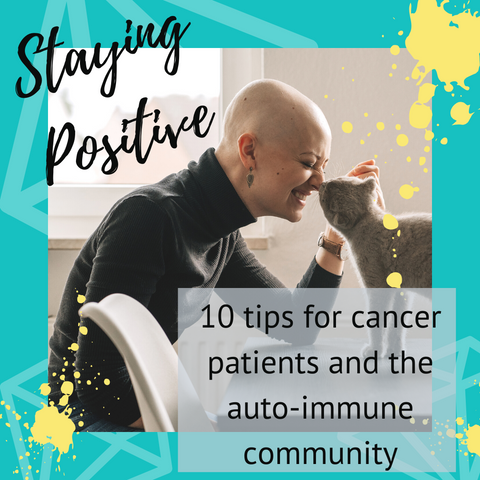 female cancer patient with cat staying positive 10 tips for cancer patients and the auto-immune community