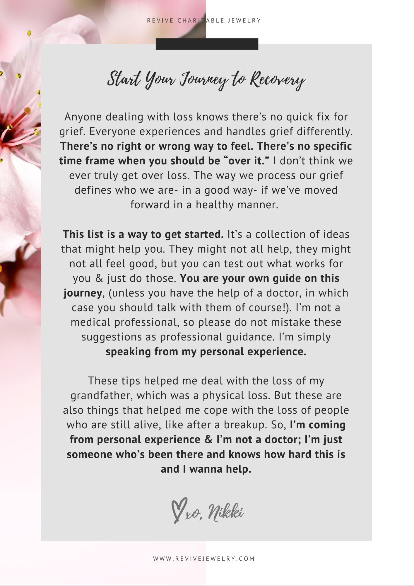 a letter from me about grief