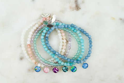 awareness stretch bracelets for illness, disease and cancer causes