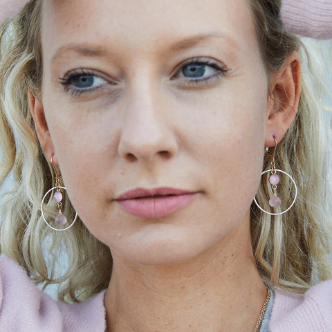 come together hoop earrings for breast cancer awareness
