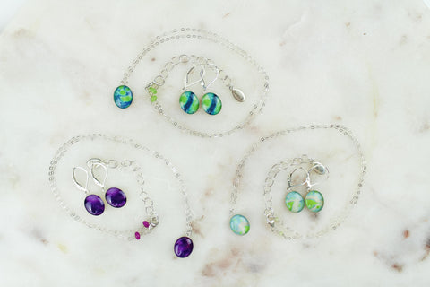 embrace jewelry set earrings and necklace to raise awareness