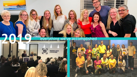 everything we've accomplished in 2019, group photos from revive jewelry part, panCAN 20th anniversary event and sarcoma alliance awareness month event