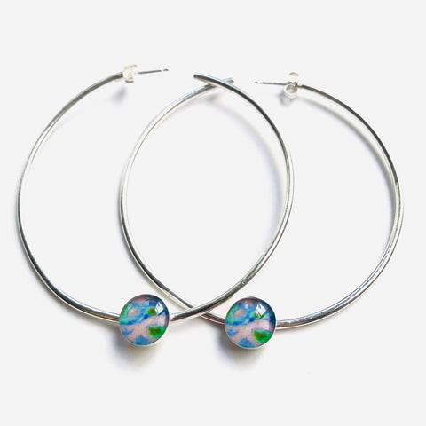 Power hoop earrings for Alzheimer's