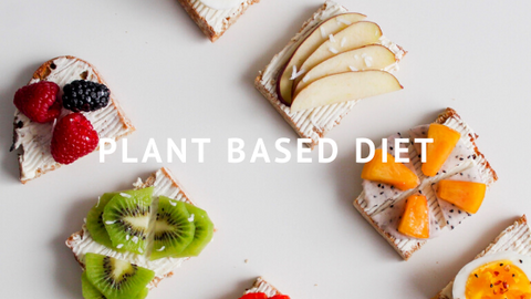 Plant Based Diet fruit different types of fruit on whole grain toast slices