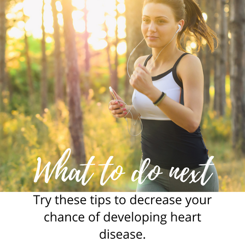 woman running in the forest what to do next try these tips to decrease your chance of developing heart disease