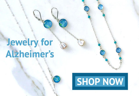 Jewelry for Alzheimer's awareness that gives back