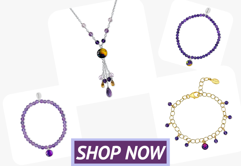amethyst jewelry the gives back to a cause