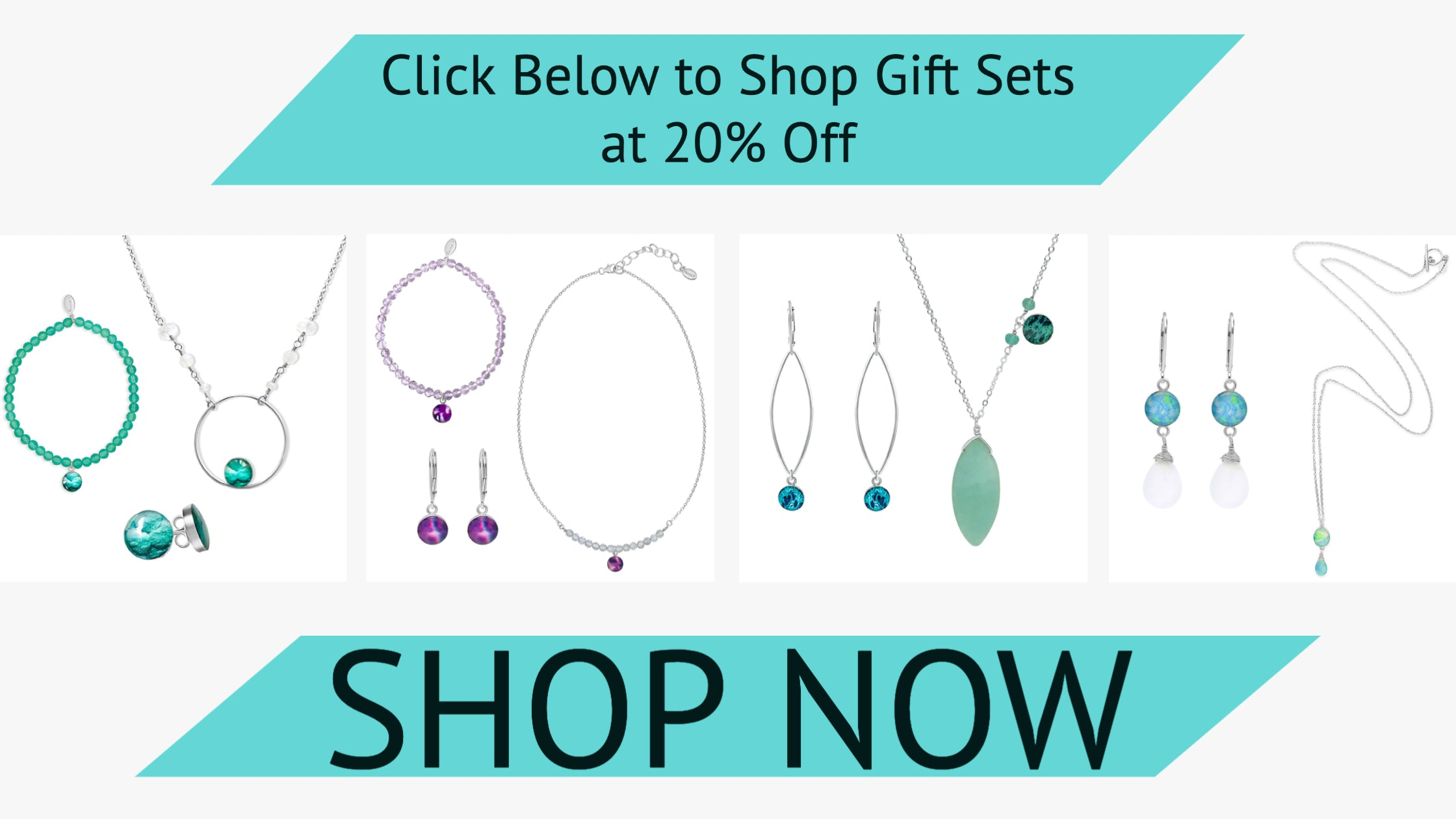 Awareness jewelry gift sets at 20% off