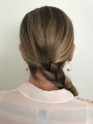 side braid from behind