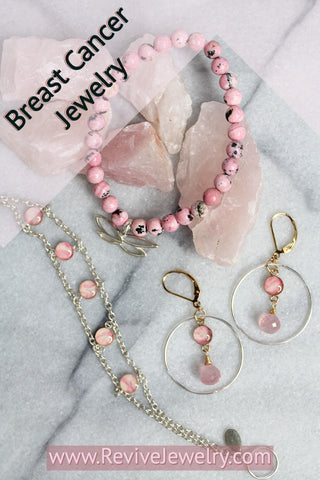 pink breast cancer jewelry gives back to charity